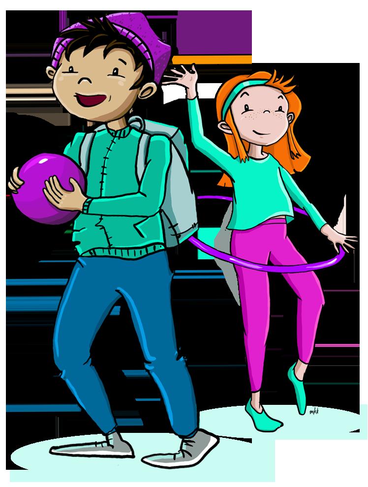 Tasaseks-seksuaalikasvatusmallin kuvituksena kaksi lasta