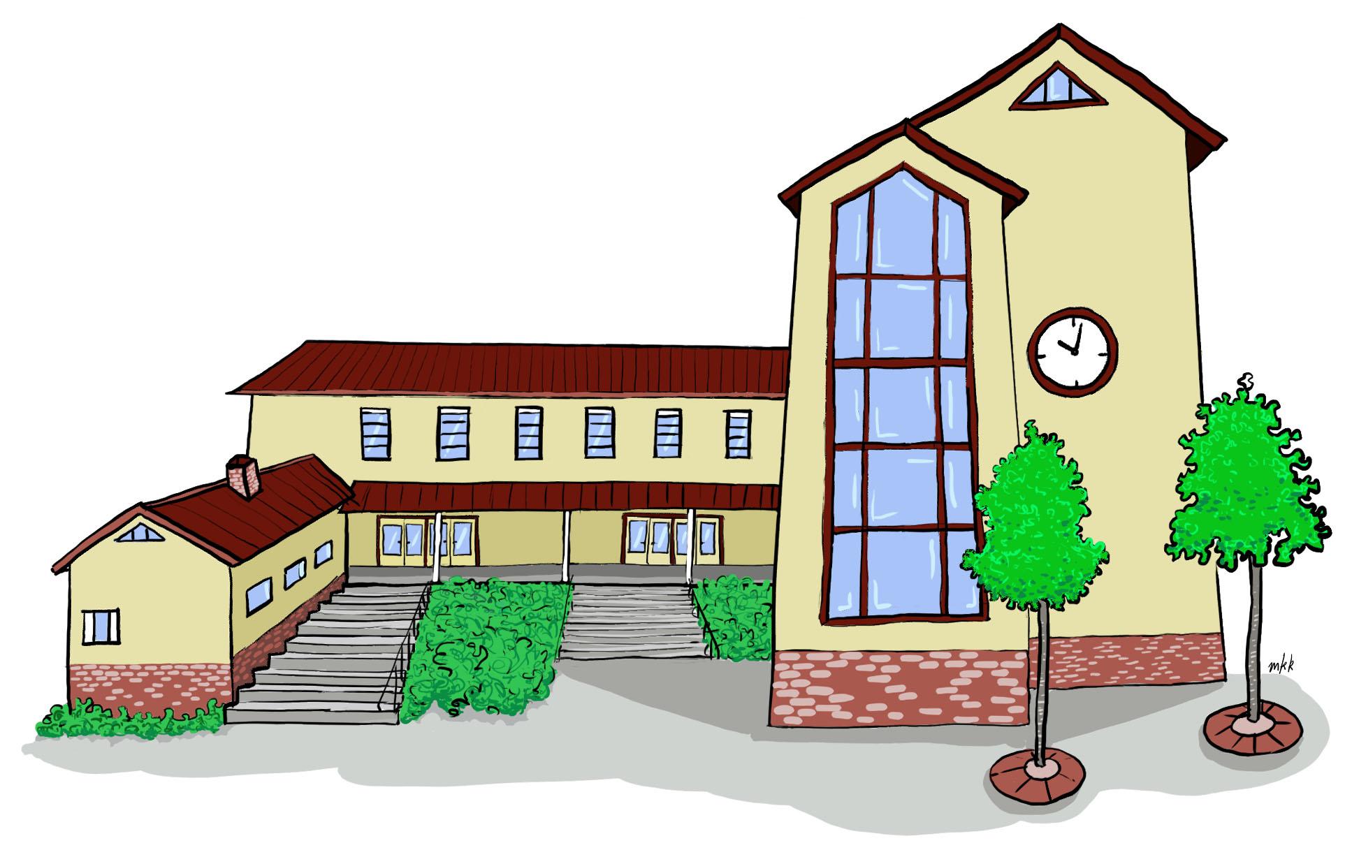 Tasaseks-seksuaalikasvatusmallin kuvituksena koulurakennus